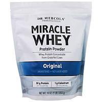Dr. Mercola, порошок сывороточного протеина Miracle, оригинальный, 16 унций (454 г), MCL-01476