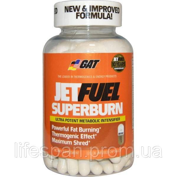 GAT, JetFUEL Superburn, 120 капсул с маслом, GAT-00210 - lifespan в Киеве