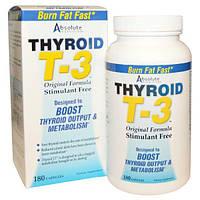 Absolute Nutrition, Щитовидная железа T-3, оригинальная формула, 180 капсул, ABN-08857