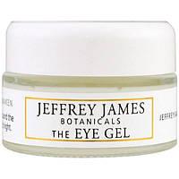 Jeffrey James Botanicals, Гель для кожи вокруг глаз, Успокаивает, обновляет, пробуждает, 0,5 унции (15 мл), JEF-00707