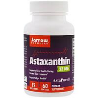 Jarrow Formulas, Астаксантин, 12 мг, 60 гелевых капсул, JRW-20212