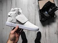 Кроссовки мужские Adidas Tubular Invader Strap white, адидас тубулар