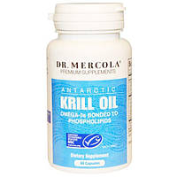Dr. Mercola, масло криля, 60 капсул, MCL-01026