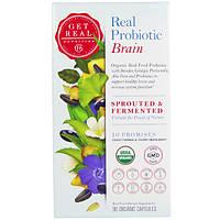 Get Real Nutrition, Настоящий пробиотик - мозг, 90 органических капсул, GTR-00003