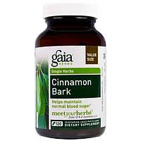 Gaia Herbs, Кора коричного дерева, 120 жидких капсул на растительной основе, GAI-14605