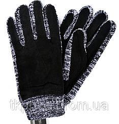 Мужские замшево ( натуральный )-трикотажные перчатки