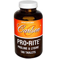 Carlson Labs, Pro•Rite, Пролин и Лизин, 180 таблеток