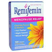 Enzymatic Therapy, Ремифемин, смягчение симптомов при перименопаузе и менопаузе, 120 таблеток, EMT-07520