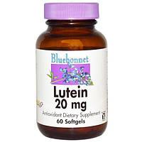 Bluebonnet Nutrition, Лютеин, 20 мг, 60 гелевых капсул, BLB-00862