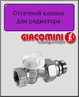"Отсекающий клапан 3/4"" Giacomini прямой"