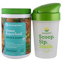Amazing Grass, Green Superfood, Подарочный набор, детоксикация системы пищеварения и шейкер, Набор из 2 предметов