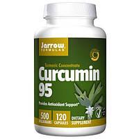 Jarrow Formulas, Куркумин 95, 500 мг, 120 вегетарианских капсул, JRW-14076