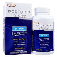 Enzymatic Therapy, Мультивитамины «Выбор врача», для мужчин от 50  лет, 120 таблеток, EMT-00092
