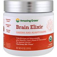 Amazing Grass, эликсир для мозга, растительные составляющие и адаптогены, 120 г (4,2 унции), AMG-00570