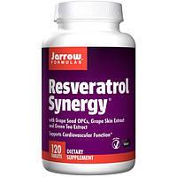 """Jarrow Formulas, Ресвератрол """"совместное действие"""", 120 легко растворяющихся таблеток, JRW-14080"""