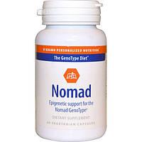 D'adamo, Кочевник, Эпигенетическая поддержка для генотипа кочевник, 60 вегетарианских капсул, DAD-01041