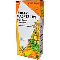 Flora, Магний Floradix, жидкая минеральная добавка, 250 мл, FLO-14783