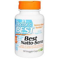 Doctor's Best, Natto-Serra, 90 капсул в растительной оболочке, DRB-00294
