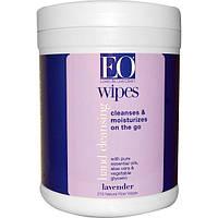 EO Products, Очищающие салфетки для рук, лаванда, 210 салфеток (Discontinued Item), EOP-12037