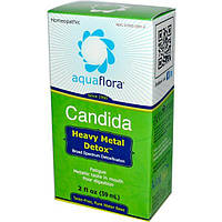 Aqua Flora, Средство для выведения кандиды и тяжелых металлов, 2 жидких унции (59 мл), AQF-22812