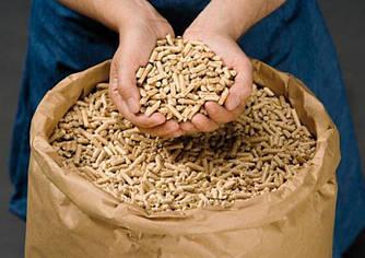 Древесные пеллеты  из сосны (Биг-бэг 1000 кг )