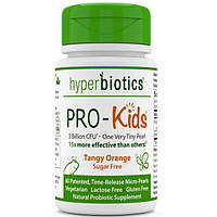 Hyperbiotics, PRO-Kids, идеальный детский пробиотик, не содержит сахара, терпкий цитрус, 60 мини-горошин, HYB-05852