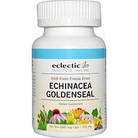 Eclectic Institute, Echinacea Goldenseal, Raw, 350 mg, 90 Non-GMO Veggie Caps, ECL-31902
