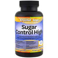 Crystal Star, Контроль уровня сахара, 60 вегетарианских капсул, CSR-02850