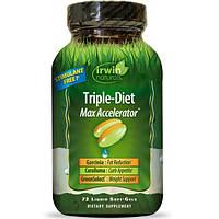 Irwin Naturals, Тройная диета, максимальный акселератор, 72 жидких гелей, IRW-58246