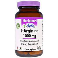 Bluebonnet Nutrition, L-аргинин, 1,000 мг, 100 капсулообразных таблеток, BLB-00027