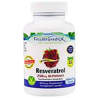 Fruitrients, Ресвератрол, 250 мг, 60 вегетарианских капсул, FRU-00208