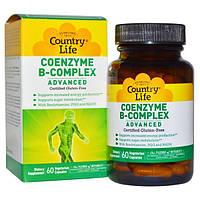 Country Life, Коферментный комплекс витаминов группы B, улучшенная формула, 60 растительных капсул, CLF-06402