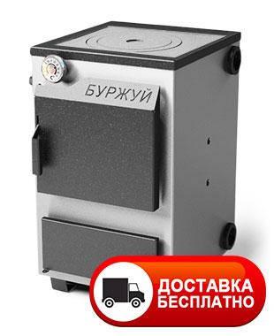 """Твердопаливний котел """"Буржуй КП-12"""" з плитою 3 мм, фото 2"""