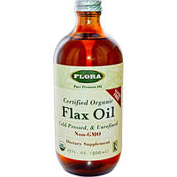 Flora, Сертифицированное органическое льняное масло ,17 жидких унций (500 мл), FLO-67902