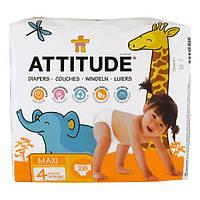 ATTITUDE, Diapers, Maxi, Size 4, 20-31 lbs (9-14 kg), 26 Diapers, ATT-16401