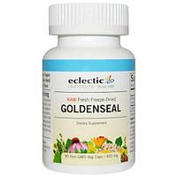 Eclectic Institute, Гидрастис (желтокорень), сырой, 400 мг, 90 вегетарианских капсул без ГМО, ECL-30918