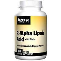 Jarrow Formulas, R-Альфа-липоевая кислота, биотин, 60 капсул, JRW-20039