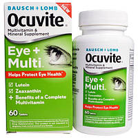 Bausch & Lomb Ocuvite, Глаза + мультивитамин, 60 таблеток, BOC-73510