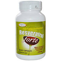 Enzymatic Therapy, Ресвератрол~Форте, 125 мг, 60 вегетарианских капсул, EMT-00327