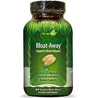Irwin Naturals, Bloat-Away, диуретик 60 жидких гелевых капсул, IRW-57304