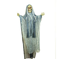 """Кукла """"Череп"""" 90 см подвесная (смеется, двигается, горят глаза) декорация на хэллоуин"""