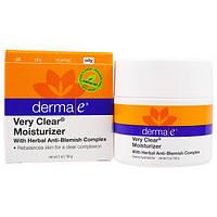 Derma E, Увлажняющий крем Very Clear с комплексом против недостатков кожи, 2 унции (56 г), DME-03900
