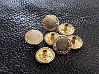 Шляпка для кнопки альфа 12,5мм. Италия цвет золото 600/ot/12,5/08k