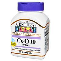 21st Century, Коэнзим Q-10, 100 мг, 90 гелевых капсул, CEN-27413