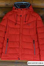 Красная теплая куртка, биопух