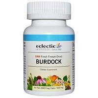 Eclectic Institute, Лопух, сырой, 500 мг, 90 вегетарианских капсул без ГМО, ECL-30901