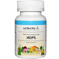 Eclectic Institute, Шишки хмеля, 200 мг, 90 вегетарианских капсул без ГМО, ECL-30917