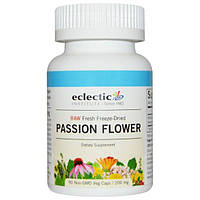 Eclectic Institute, Страстоцвет, сырой, 200 мг, 90 вегетарианских капсул без ГМО, ECL-30927
