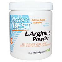 Doctor's Best, Порошок L-аргинин, 300 г, DRB-00374