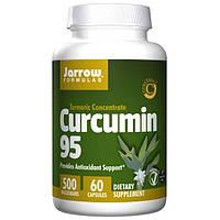 Jarrow Formulas, Куркумин 95, 500 мг, 60 вегетарианских капсул, JRW-14004